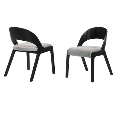 Set of 2 Polly Mid-Century Upholstered Dining Chairs - Armen Living
