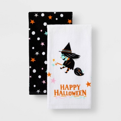 2pk Witch Halloween Terry Kitchen Towel - Hyde & EEK! Boutique™