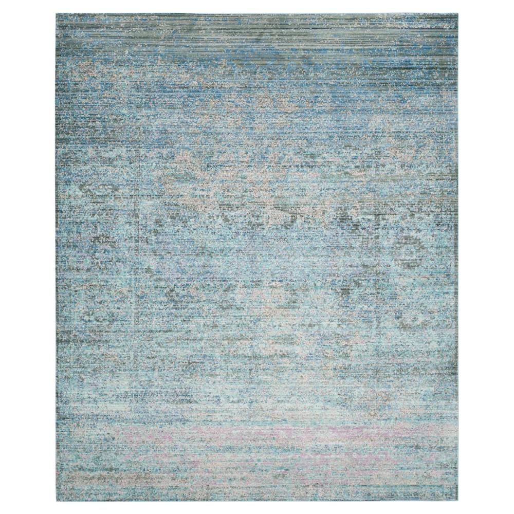 Blue Multi Burst Loomed Area Rug 10'X13' - Safavieh