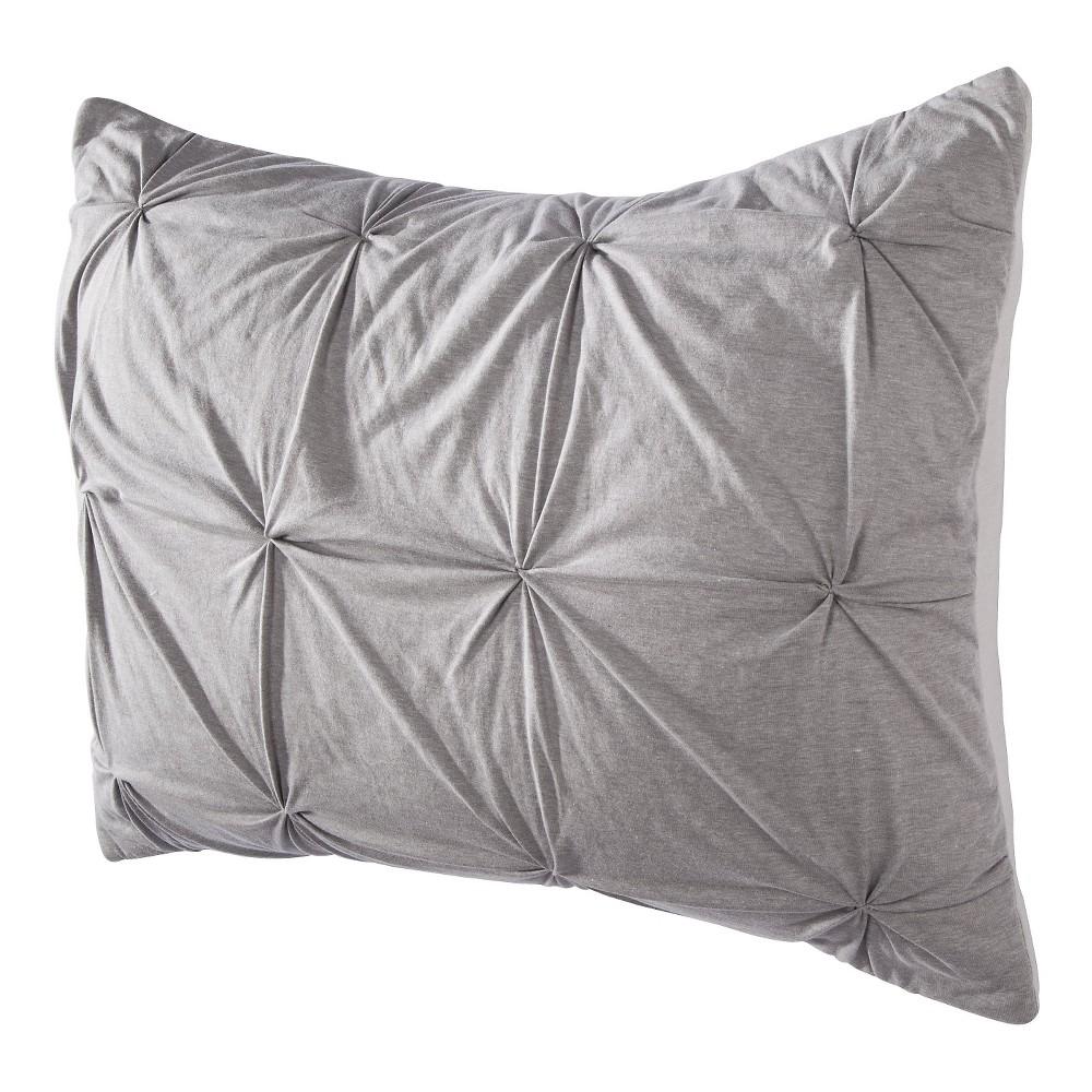 Gray Jersey Quilted Pillow Sham (Standard) - Room Essentials