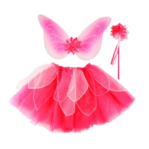 Great Pretenders Child's Fancy Flutter Skirt with Wings & Wand - image 1 of 1