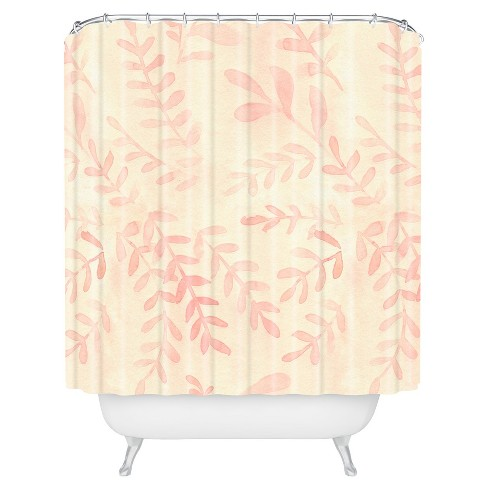 Floral Branches Shower Curtain Pink