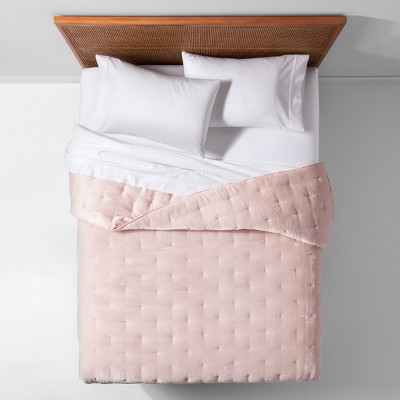 Blush Velvet Tufted Stitch Quilt (Twin/Twin XL)- Opalhouse™