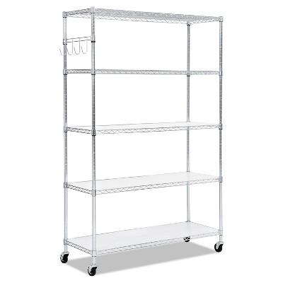 Alera 5-Shelf Wire Shelving Kit 48w x 18d x 72h Silver SW654818SR