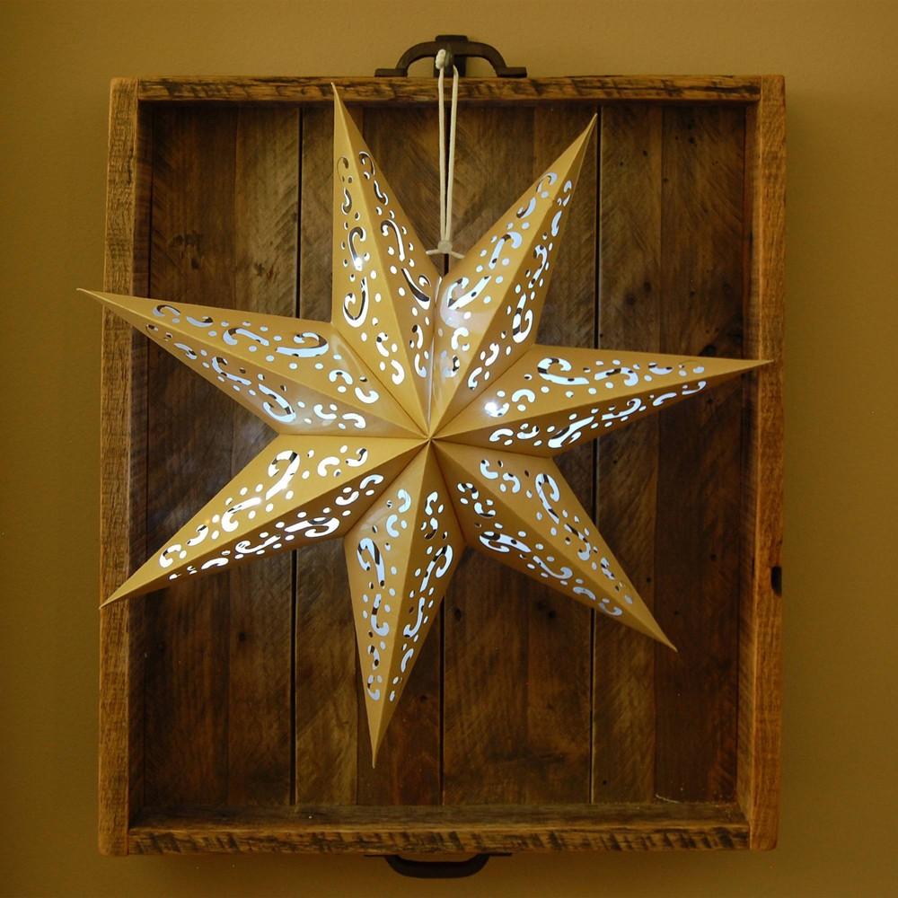 Image of 3ct 7 Point Lantern Star Gold