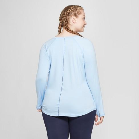 ff50d0b90622e Women s Plus Size Long Sleeve Soft T-Shirt - C9 Champion®   Target