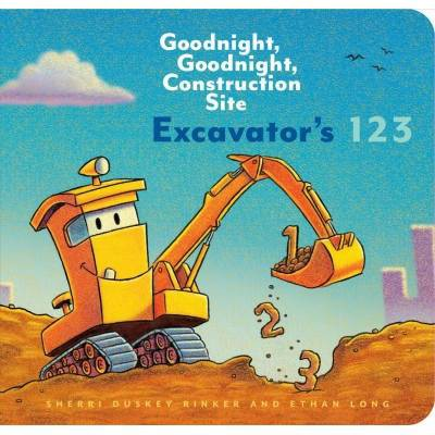 Excavator's 123: Goodnight, Goodnight, Construction Site (Counting Books for Kids, Learning to Count Books, Goodnight Book) - (Board Book)