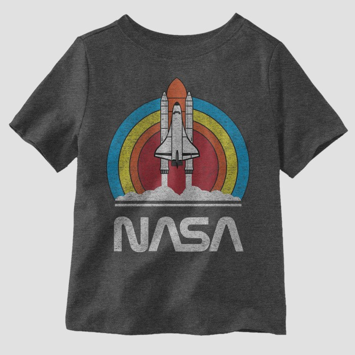 Toddler Boys' Well Worn NASA Short Sleeve T-Shirt - Athletic Heather - image 1 of 1