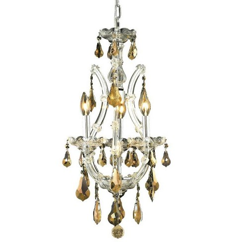 Elegant Lighting 2801D12C-GT Maria Theresa 4-Light, Single-Tier Crystal Chandelier, Finished in Chrome - image 1 of 1