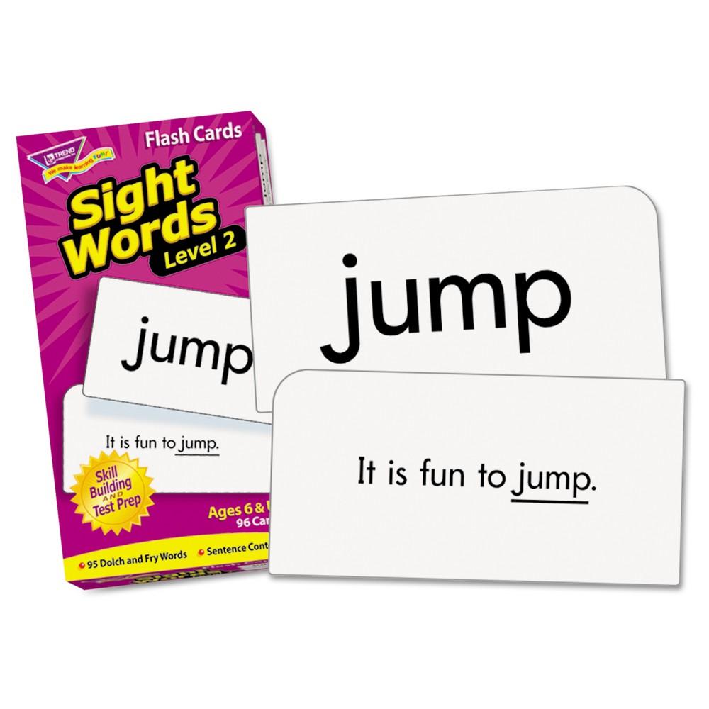 """TREND Skill Drill Flash Cards, 3 3/8"""" x 6 1/4"""", Sight Words Set 2, 97/Set"""
