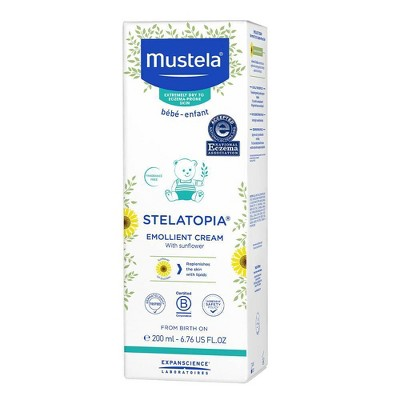 Mustela Stelatopia Emollient Fragrance Free Baby Cream for Eczema Prone Skin -  6.76 fl oz