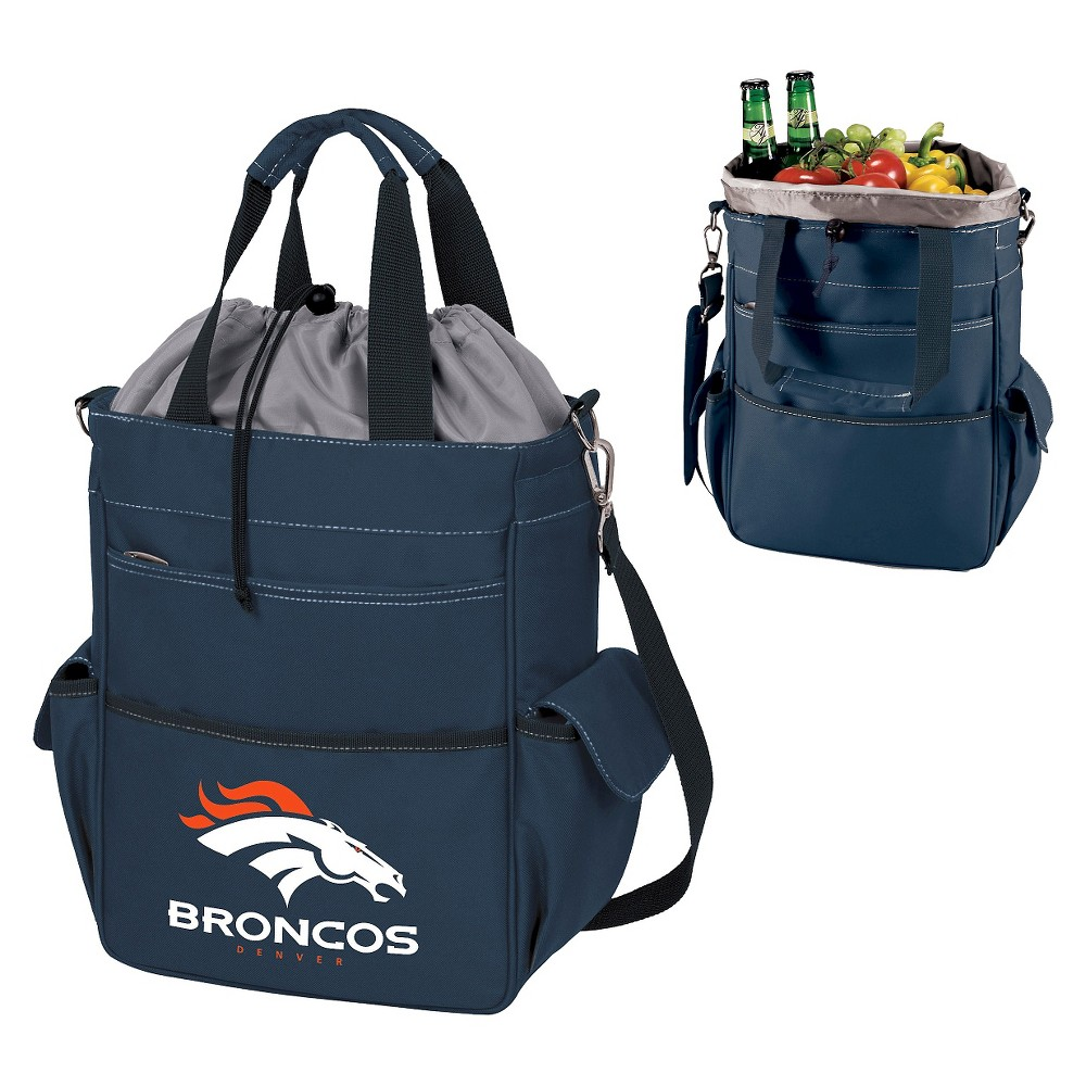 Denver Broncos Activo Cooler Tote By Picnic Time Navy