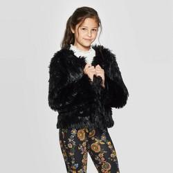 Girls' Open Front Fuzzy Cardigan - art class™
