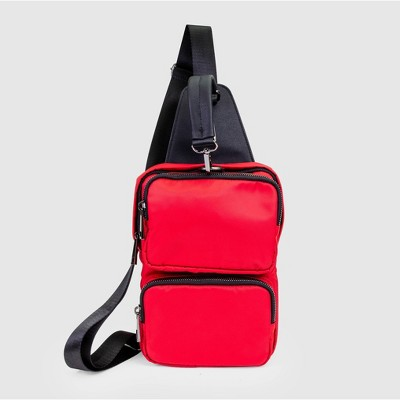 Stella & Max Front Back Sling Pack With Phone Charging Battery