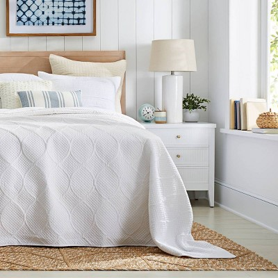 White Bedroom Décor with Traditional Bedspread Collection - Threshold™