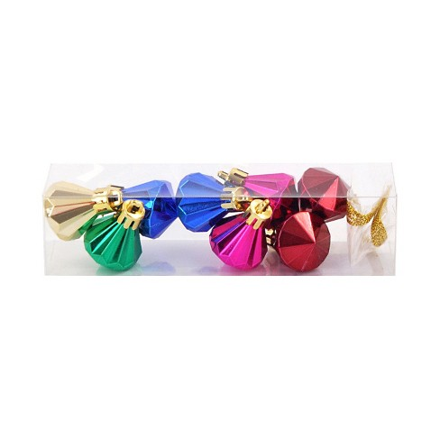 Mini Christmas Ornament Set Blue/Green/Gold 8ct - Wondershop™ - image 1 of 2
