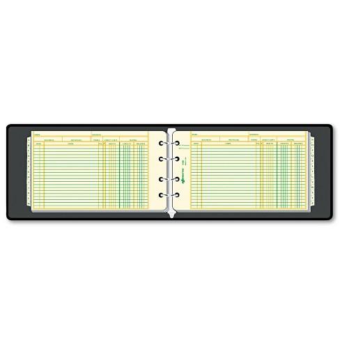 National Four-Ring Ledger Binder Kit 100 Ledger Sheets 8 1/2 x 5 63453 - image 1 of 2