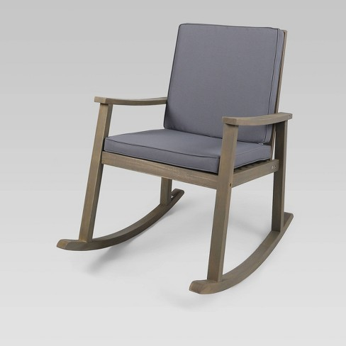 Candel Acacia Wood Patio Rocking Chair, Outdoor Rocking Chair Cushions Target