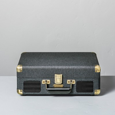 Suitcase Record Player Dark Gray - Hearth & Hand™ with Magnolia
