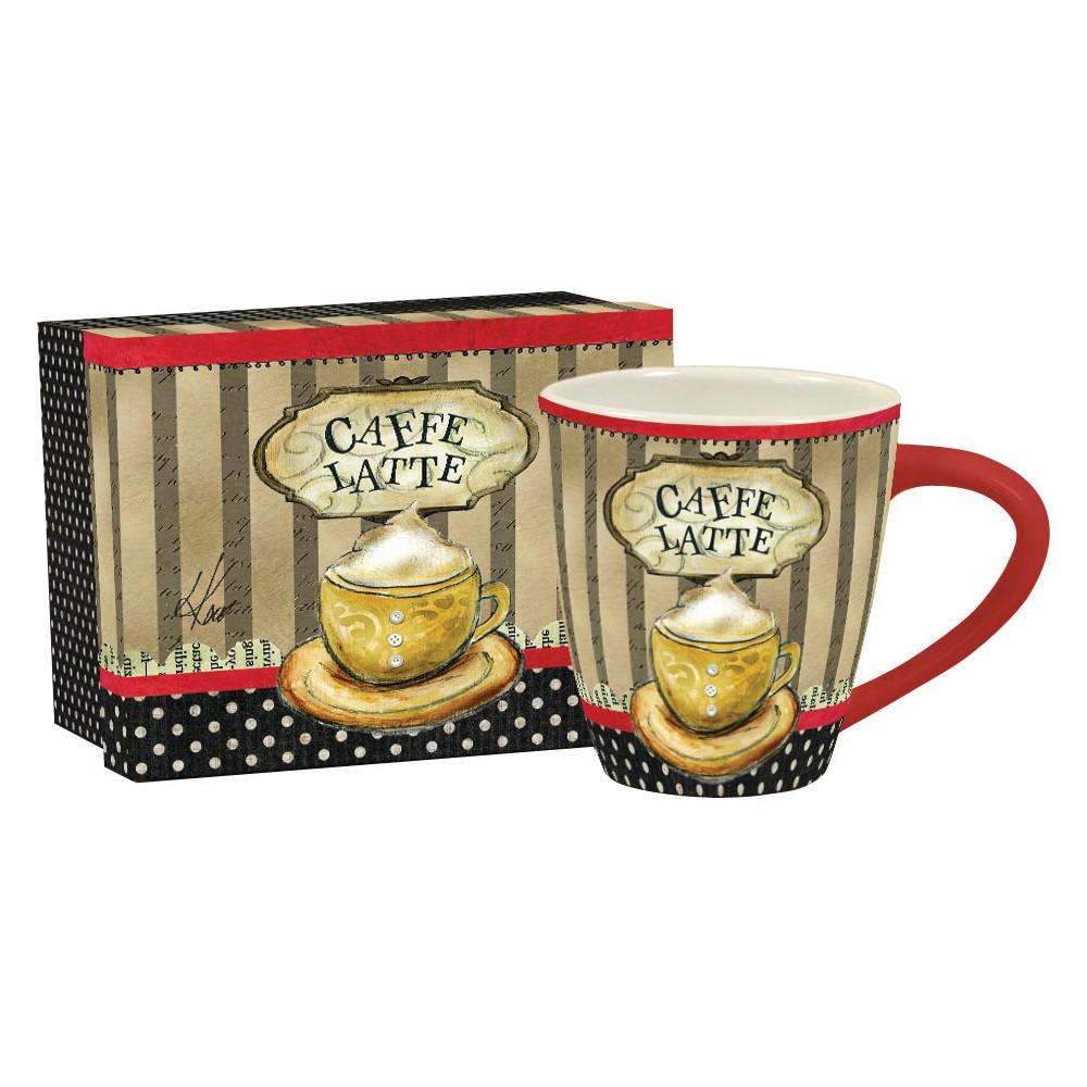 Lang Ceramic Coffee Time Café Mug 17 oz, Multi-Colored