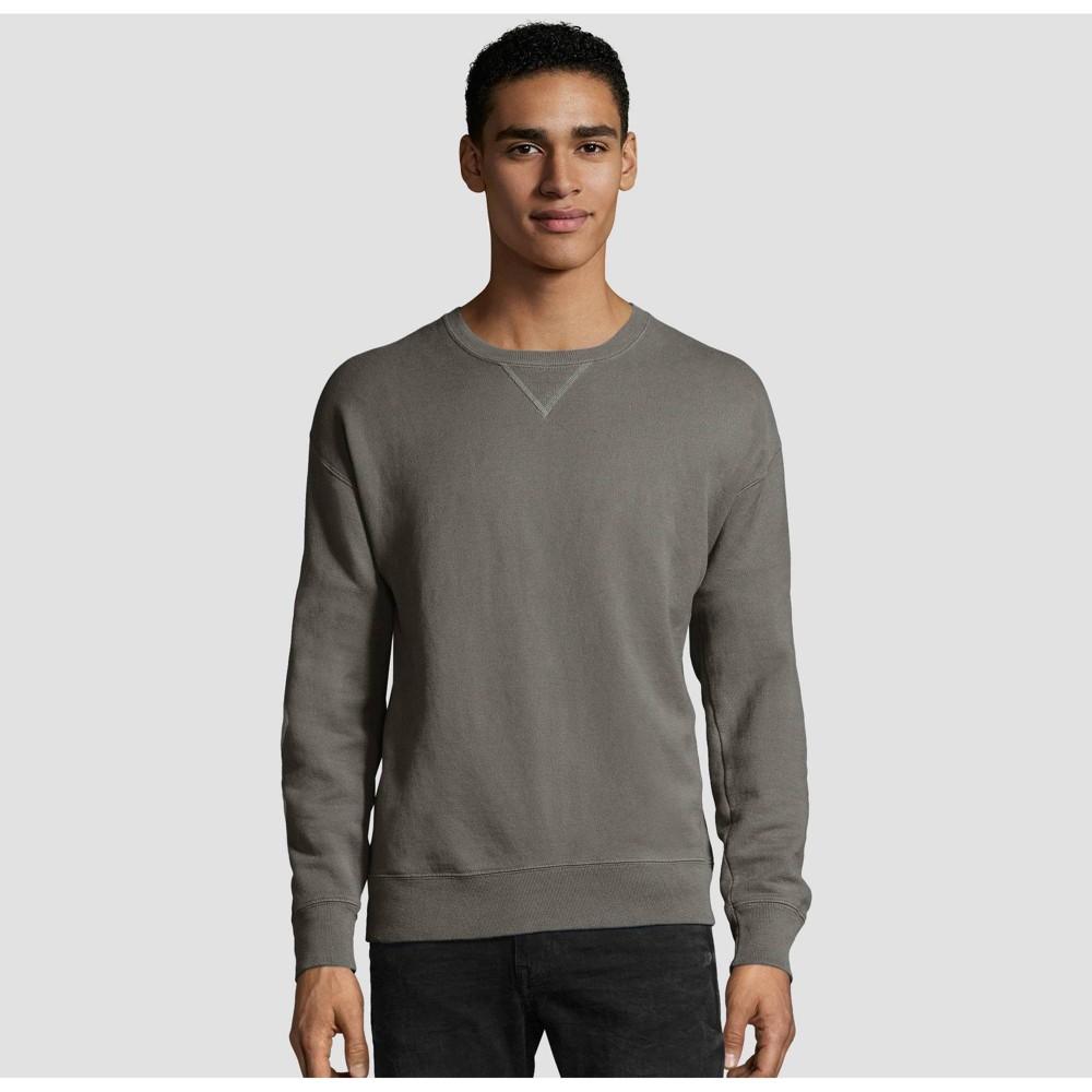Hanes Men S Big Tall Comfort Wash Fleece Sweatshirt Concrete 3xl