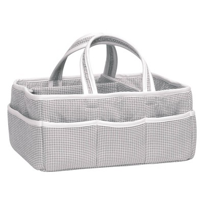 Trend Lab Diaper Caddy Gingham Check Gray