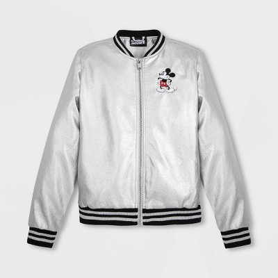 Women's Disney Mickey Mouse Bomber Jacket - Gray - Disney Store
