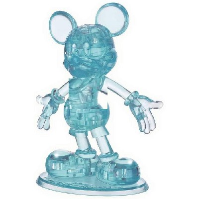 University Games Disney Mickey Mouse 44 Piece 3D Crystal Jigsaw Puzzle | Blue
