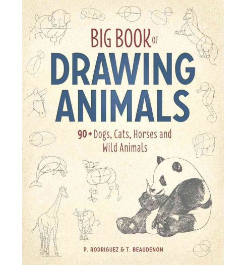Big Book of Drawing Animals : 90+ Dogs, Cats, Horses and Wild Animals (Paperback) (P. Rodriguez & T. - image 1 of 1