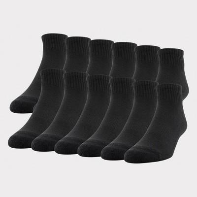 Gildan Men's Quarter Socks 12pk - 6-12