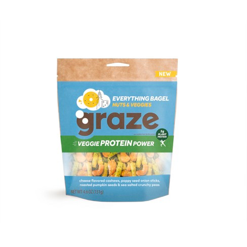 Graze New York Everything Bagel Cheese Flavored Cashews- 4.2oz - image 1 of 1