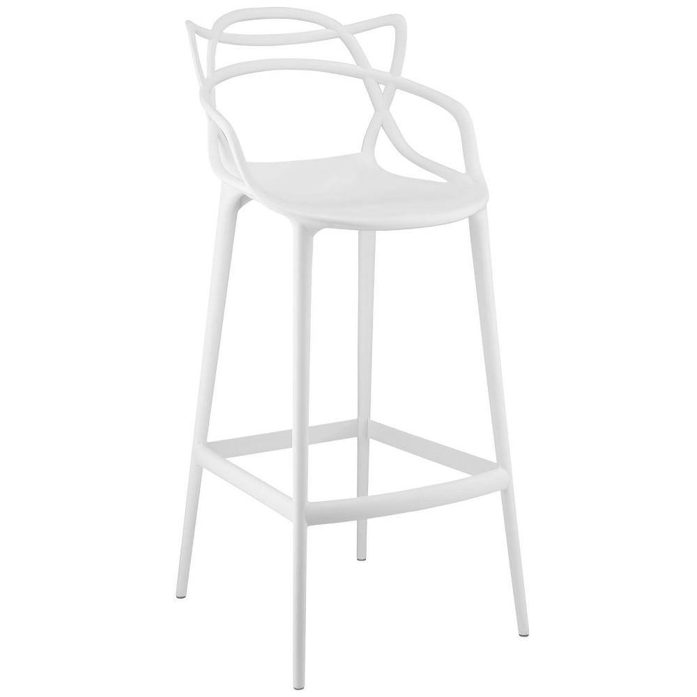 Entangled Bar Stool White - Modway