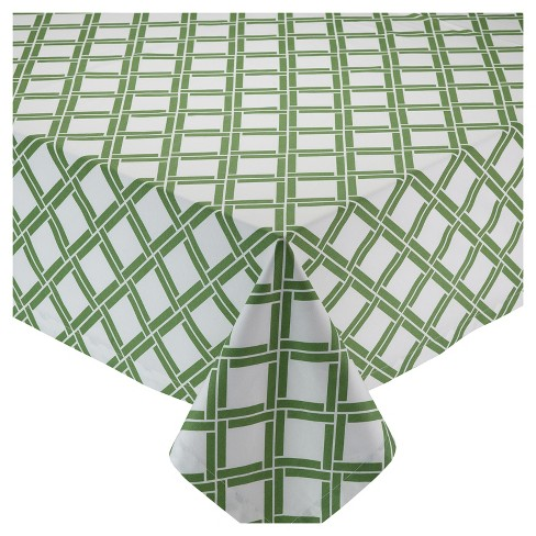 """Green Bamboo Lattice Tablecloth (52""""x52"""") - Design Imports - image 1 of 2"""