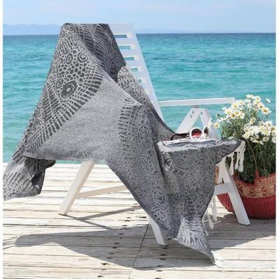 Anatolian Pattern Pestemal Beach Towel Black - Linum Home Textiles