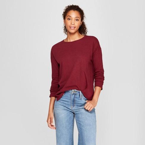 dea6b26c40 Women s Drop Shoulder Long Sleeve T-Shirt - Universal Thread ...