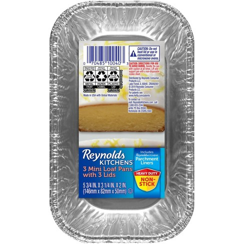 Reynolds Loaf with Parchment & Lids - 1lb/3ct - image 1 of 4