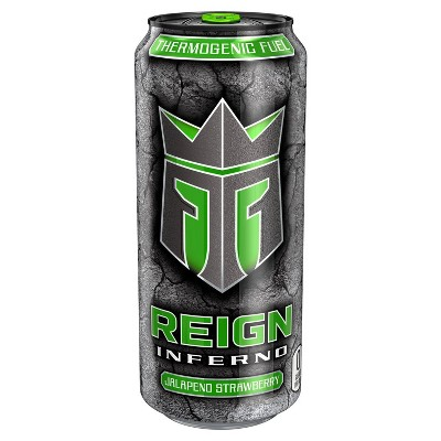 Reign Inferno Jalapeno Strawberry Energy Drink - 16 fl oz Can