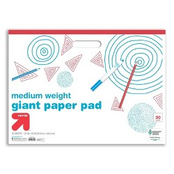 "22"" x 16"" 30 Sheets Giant Paper Pad with Handle White - Up&Up™"