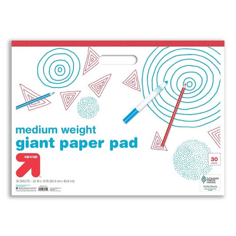 """22"""" x 16"""" 30 Sheets Giant Paper Pad with Handle White - Up&Up™ - image 1 of 1"""