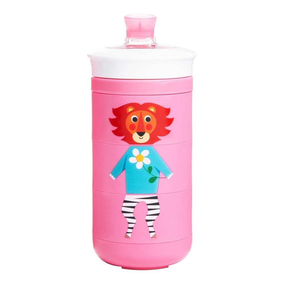 Munchkin Twisty Mix 38 Match Animals Bite Proof Sippy Cup 9oz Pink