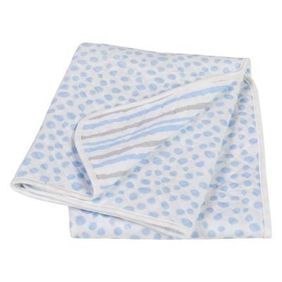 Trend Lab Scuba Knit Baby Blanket - Blue/Gray