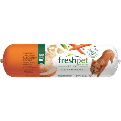 Freshpet Select Chunky Chicken & Turkey with Vegetables & Brown Rice Dog Food Roll - 1.5lb - image 1 of 2