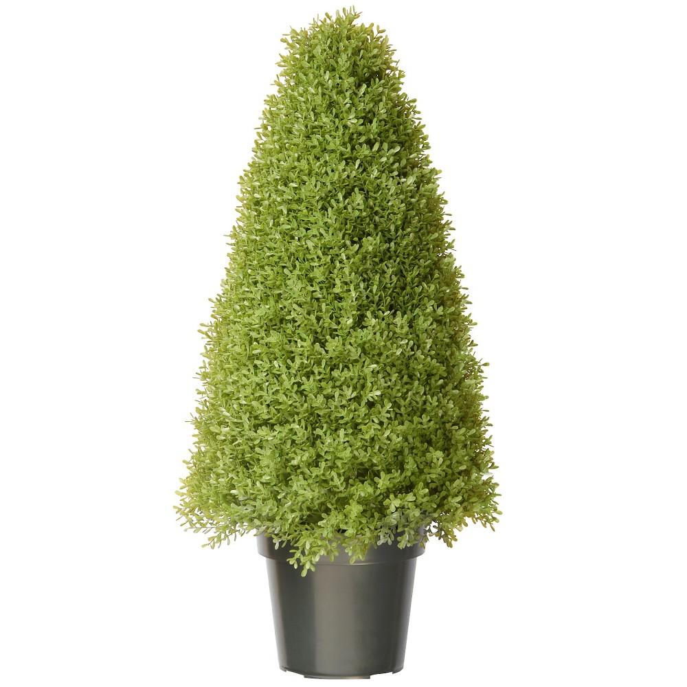 National Tree Boxwood Tree with Green Pot (36)
