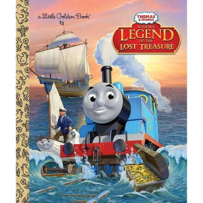 Sodor's Legend of the Lost Treasure (Thomas & Friends) - (Little Golden Book) by  W Awdry (Hardcover)
