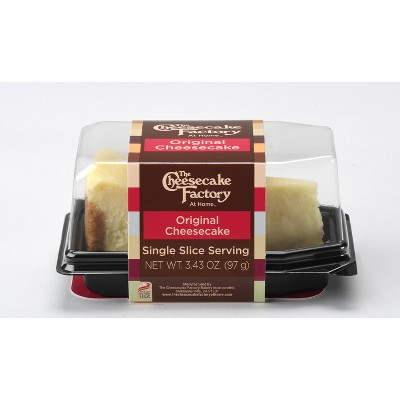 The Cheesecake Factory At Home - Single Serve Original Frozen Cheesecake Slice - 3.43oz