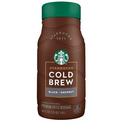 Starbucks Cold Brew Black Unsweetened Coffee - 40 fl oz