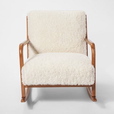 Terrific Esters Wood Arm Chair Sherpa White Project 62 Target Evergreenethics Interior Chair Design Evergreenethicsorg