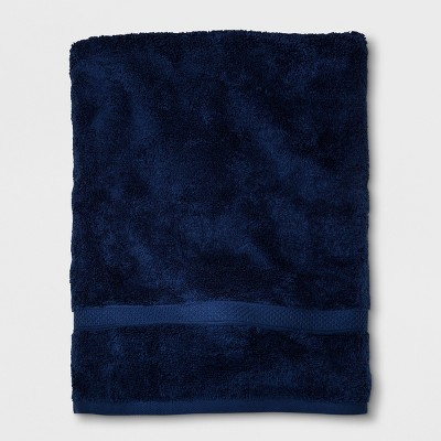 Perfectly Soft Solid Bath Sheet Navy Blue - Opalhouse™