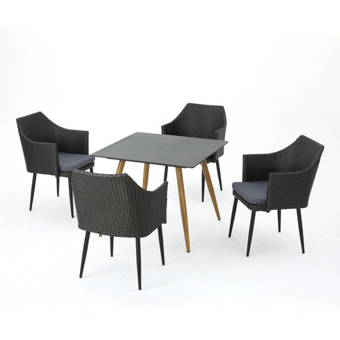Theon 5pc Wicker Dining Set - Christopher Knight Home - image 1 of 4