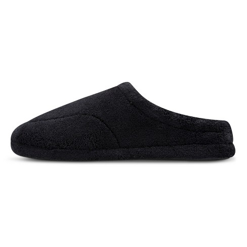 a54f1d4e0 IMPRESSIONS By ISOTONER Men s Microterry Clog Slipper - Black M   Target